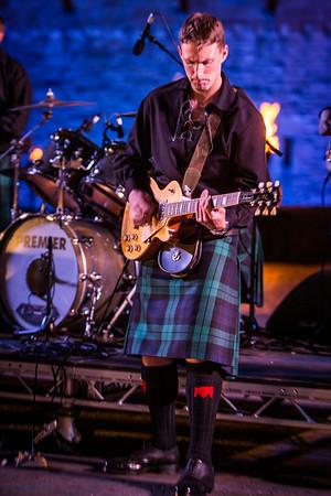 Kilted Guitarist - Accompanying the Tattoo Highland Dancers