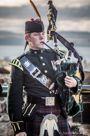 Piper on the Battlements of Edinburgh Castle