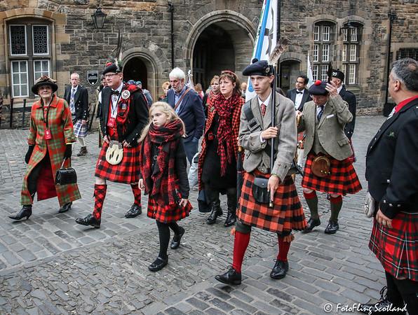 MacGregor Clan Parade to Great Hall of Edinburgh Castle