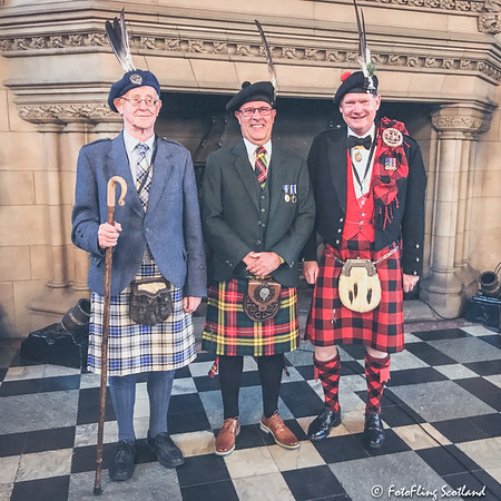 Clan Chieftains: Clans (L-R) Hannay, Buchanan & MacGregor
