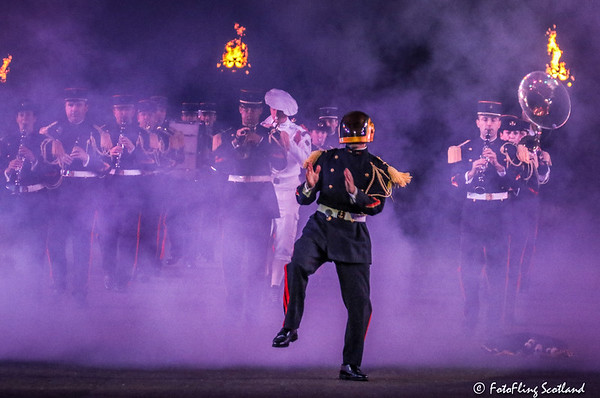 The Fanfare Band of the 9th French Marine Infantry Brigade