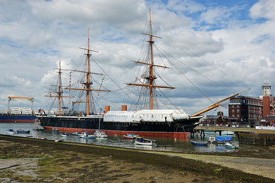 HMS Warrior at Portsmouth on 13 July 2016