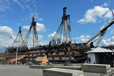 HMS Victory at Portsmouth on 13 July 2016