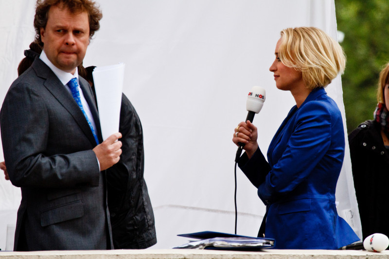 Foreign media - no idea who either of them were but neither look happy - probably due to their poor location!