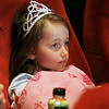 Record-Eagle/Jan-Michael Stump<br /> Ivy Libby (cq), 6, watches the British royal wedding at the State Theatre early Friday morning.