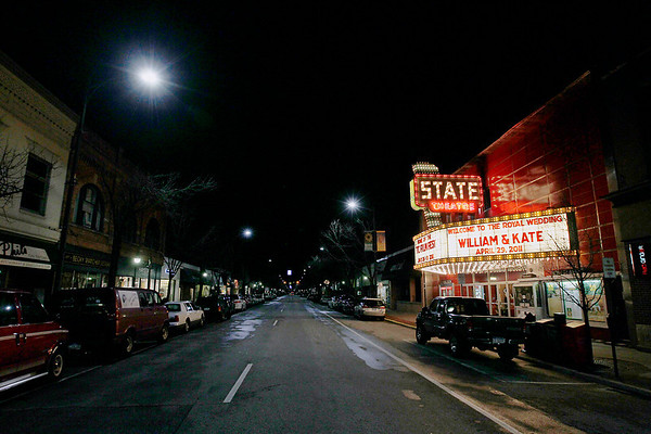 Record-Eagle/Jan-Michael Stump<br /> Hundreds, many dressed for the occasion watched the British royal wedding of Prince William and Kate Middleton in the pre-dawn hours Friday at the State Theatre.