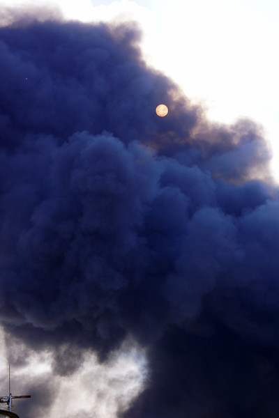 Smoke blots out the sun