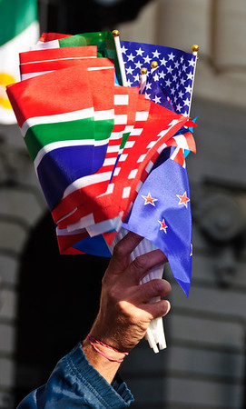 Flags for sale Rugby World Cup 2011 Auckland