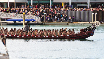 Ngati Paoa Te Waka Kotuiti Opening of the Rugby World Cup 2011 Viaduct Basin Auckland
