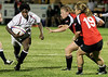 Esher RC 29/08/08:<br /> Maggie Alphonsi in action against Canada