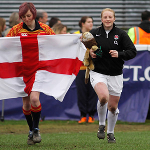 England v Ireland: Sophie Hemmimgs on her 50th Cap leads out the England side in the Grand-slam decider against Ireland at Esher RFC