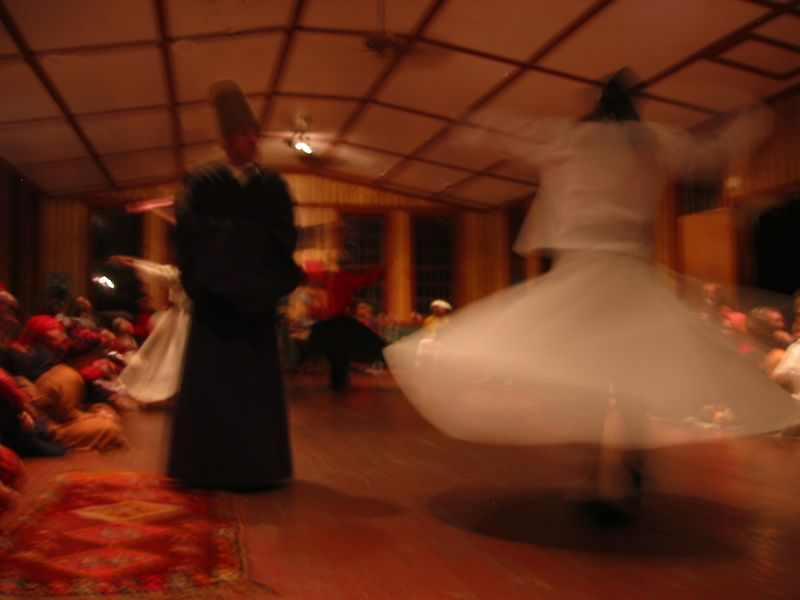 Blurry whirling dervishes