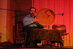 Shahram Mazhari (director, vocals, daf frame drum), Mohammad Nahavandi (santur), 3rd member
