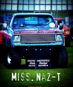 "Josh South driving ""Miss Naz-T""."