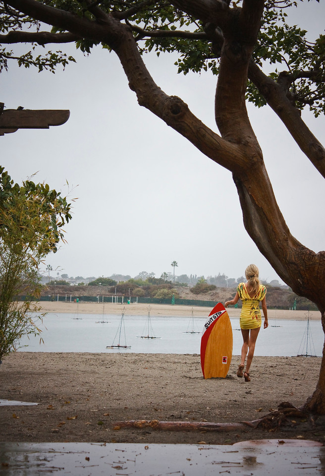 She's off to pursue her dream of skimboarding.