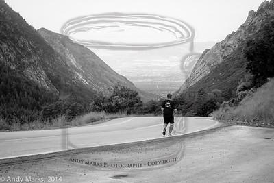 Last runner, heading down canyon.
