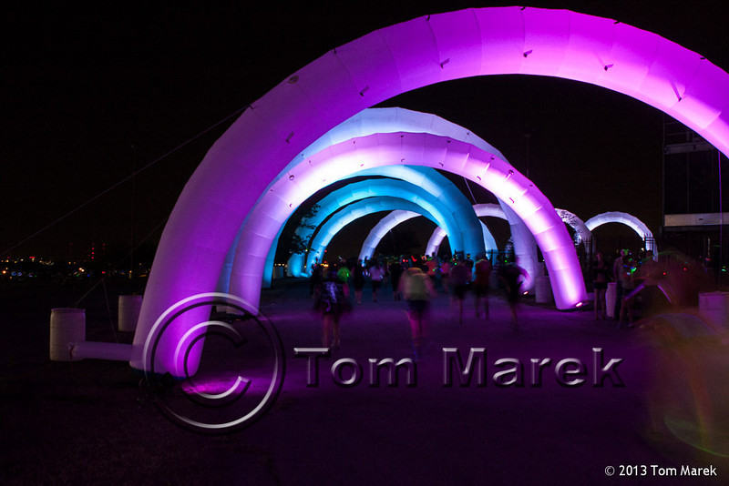 The finish chute at the Electric Run.