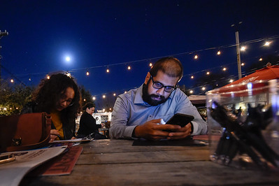 """SA Current Magazine held a """"New Blood"""" meeting at Burleson Yard Beer Garden on 11 Jan 17. This gave over 25+ individuals looking to work promo and photography for the SA Current a chance to meet with hiring managers. (Photo by Andrew Patterson/ SACurrent)"""