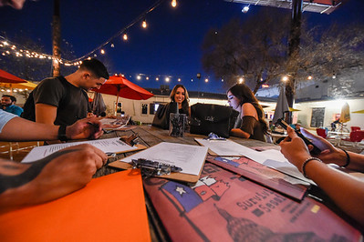 "SA Current Magazine held a ""New Blood"" meeting at Burleson Yard Beer Garden on 11 Jan 17. This gave over 25+ individuals looking to work promo and photography for the SA Current a chance to meet with hiring managers. (Photo by Andrew Patterson/ SACurrent)"