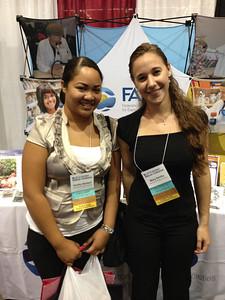 FASEB MARC Student Travel Award recipients: Ashley Baldauf and Mary DeVita of Chaminade University of Honolulu