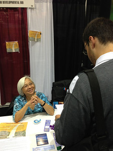 The Society for Developmental Biology exhibit booth at SACNAS 2012