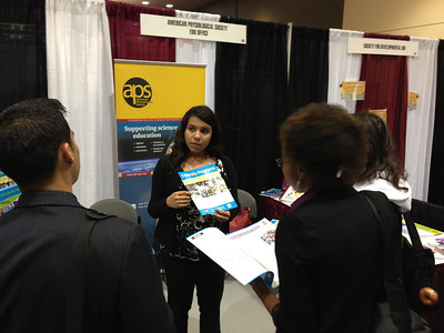 The American Physiological Society exhibit booth at SACNAS 2012