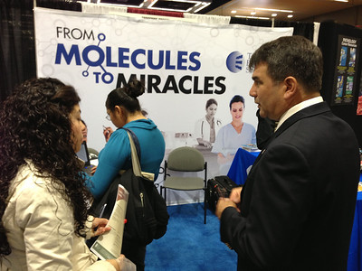 Dr. Mark Lawson (Assoc. Professor of Reproductive Medicine, University of California San Diego) at The Endocrine Society exhibit booth at SACNAS 2012