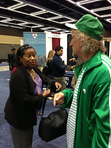 Dr. Irelene Ricks (Program Advisor, American Association of State Colleges and Universities) and Dr. Thomas Landefeld (Professor of Biology, California State University-Dominguez Hills) at SACNAS 2012