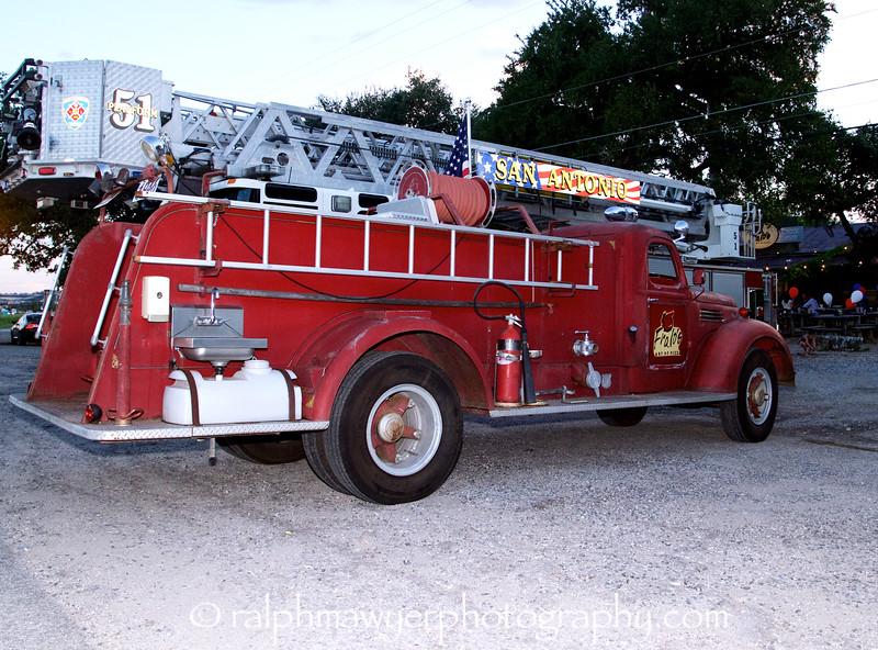 Fralo's fire truck has a new platform ladder.