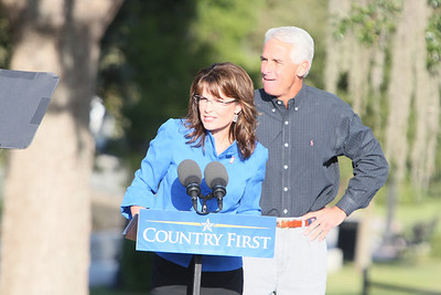 SARA PALIN & FLORIDA GOVENOR CHARLIE CRIST