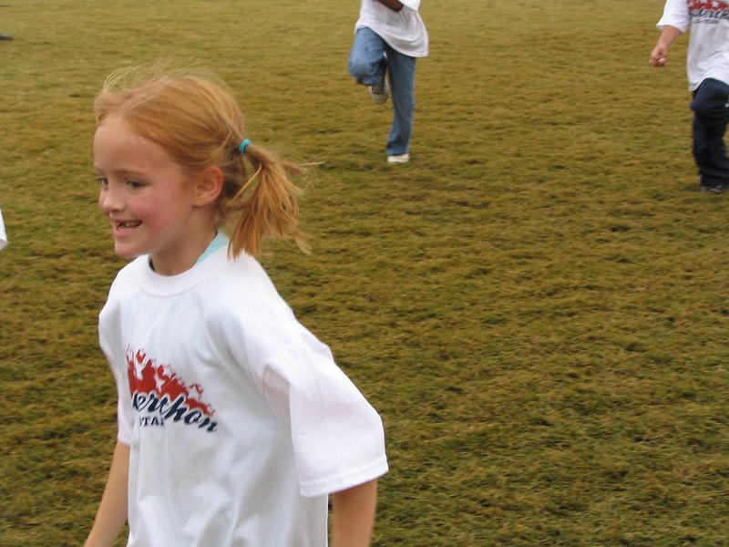 Caroline running.