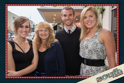 Chelsey and Carol Corgan, Kyle Ford and Jen Droin