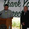 Suwannee County Commission Chairman Wesley Wainright and SCI Warden Chris Landrum