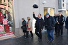 Frater Daniele Canali of the SCJs' International College leads bishops on a tour of his hometown of Naples, Italy.