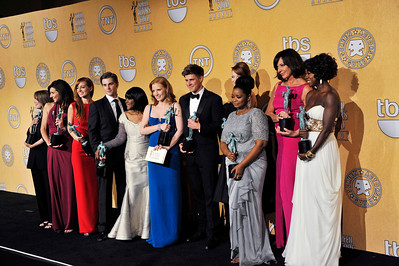 LOS ANGELES - JANUARY 28: press room at the 18th Annual Screen Actors Guild Awards at the Shrine Auditorium & Expo Hall, January 28, 2012 in Los Angeles, California. (Photo by Valerie Goodloe)