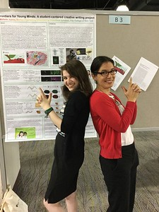 Chloe Kenet (high-school student) and Dr. Michelle Juarez (Asst. Professor at City College New York; FASEB MARC Mentor)