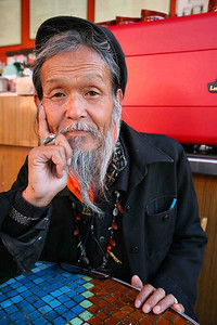 Ali Mongo a postcard artist living in San Francisco for 28 years but originally from Japan.   When Asked, What should people the likes of Bill Gates and Larry Ellison do with their money?  Ali's response: The rich man should take more initiative and set some money aside to help the poor and especially the elderly like myself. Just a little bit of money relative to them could help cloth, feed, house and educate the needy. I personally would like to afford some flowers to have a garden in my small apartment.