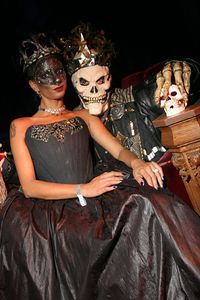 Nadia & Donovan at their Halloween Masquerade @ the Regency
