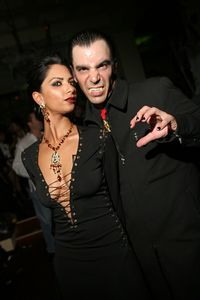 Nadia & Donovan @ their Top pf the Mark Pre Halloween Party