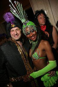 Aykut & Maisa @  Aykut along with Alf and Alf´s Halloween Masquerade Extraveganza at the St. Francis Hotel