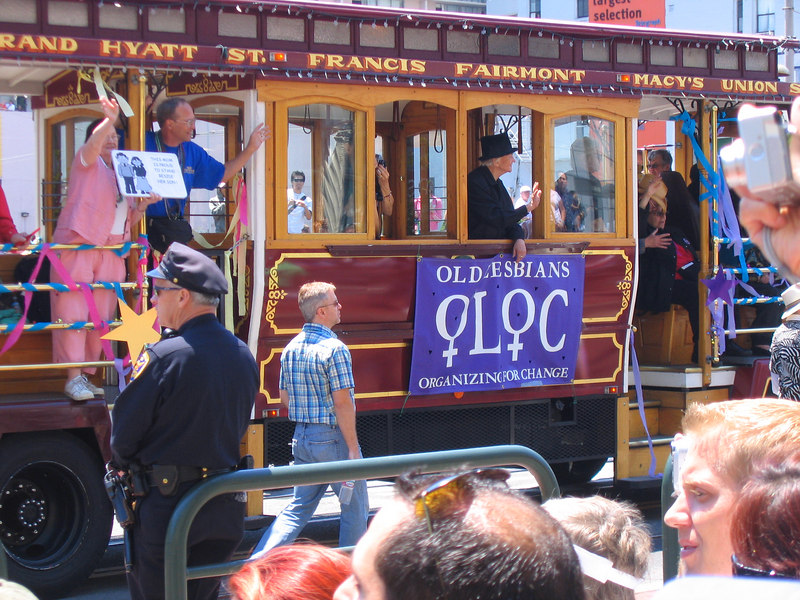 Old Lesbian Trolley in Pride Fest SF 2006