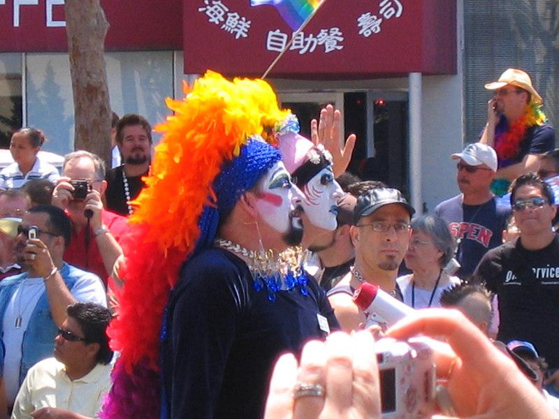 Great headdresses at Pride Fest