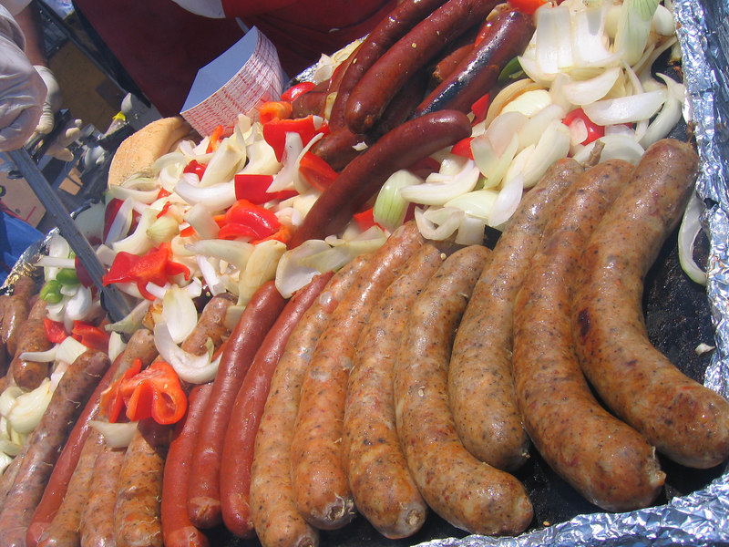 Awesome sausages...no not the boys!!! at Pride Fest SF, 2006