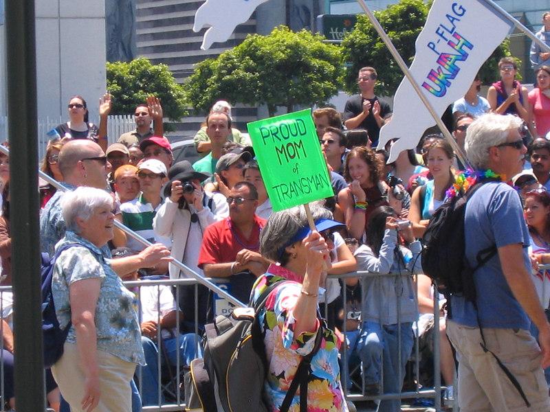 Proud Parent sign at Pride Fest SF