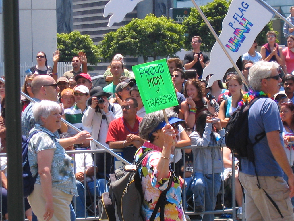 Proud Parent sign at Pride Fest SF