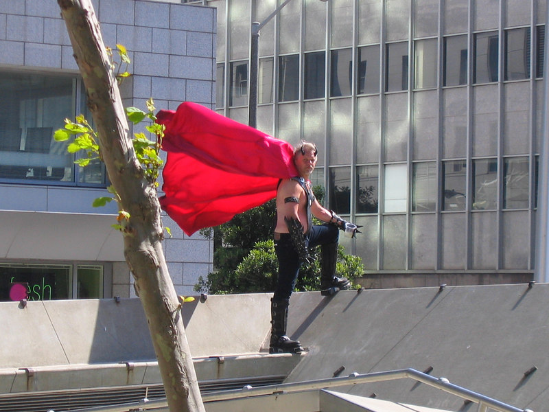 Red Caped Man at Pride Fest SF, 2006