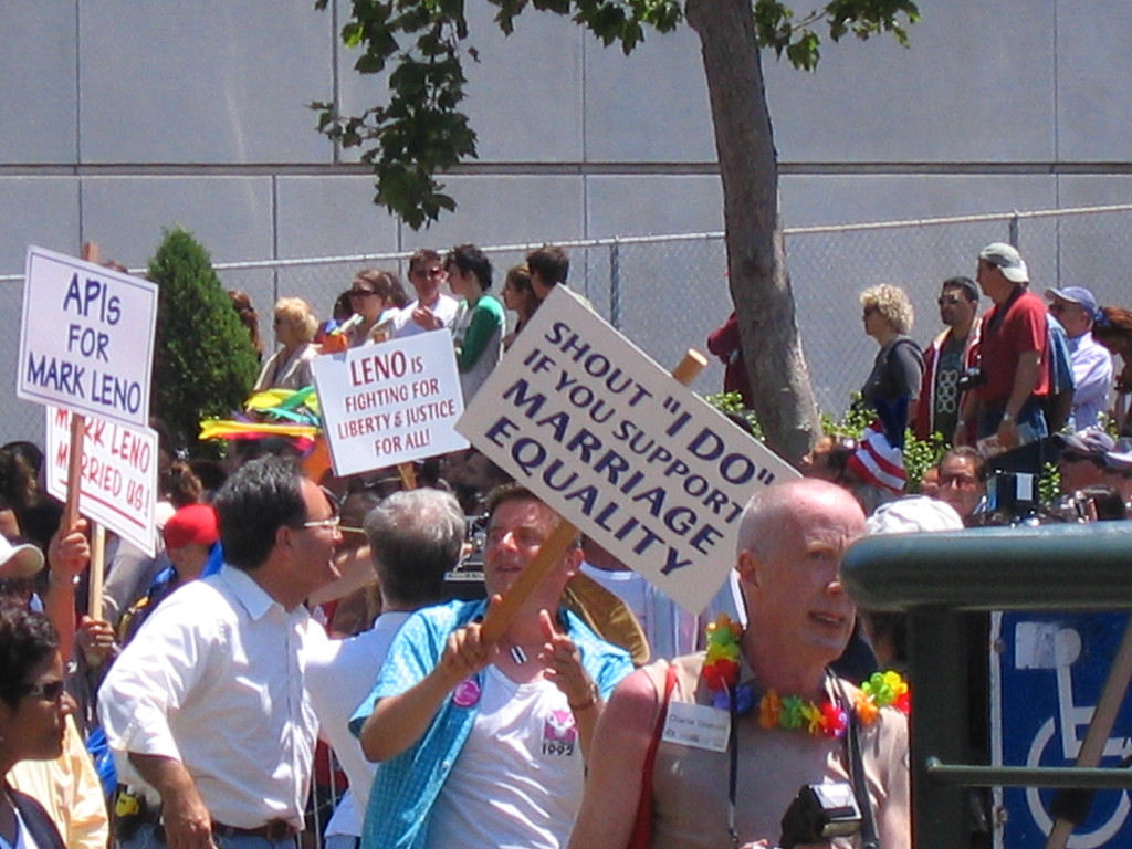 Marriage and Equality signs at Pride Fest SF