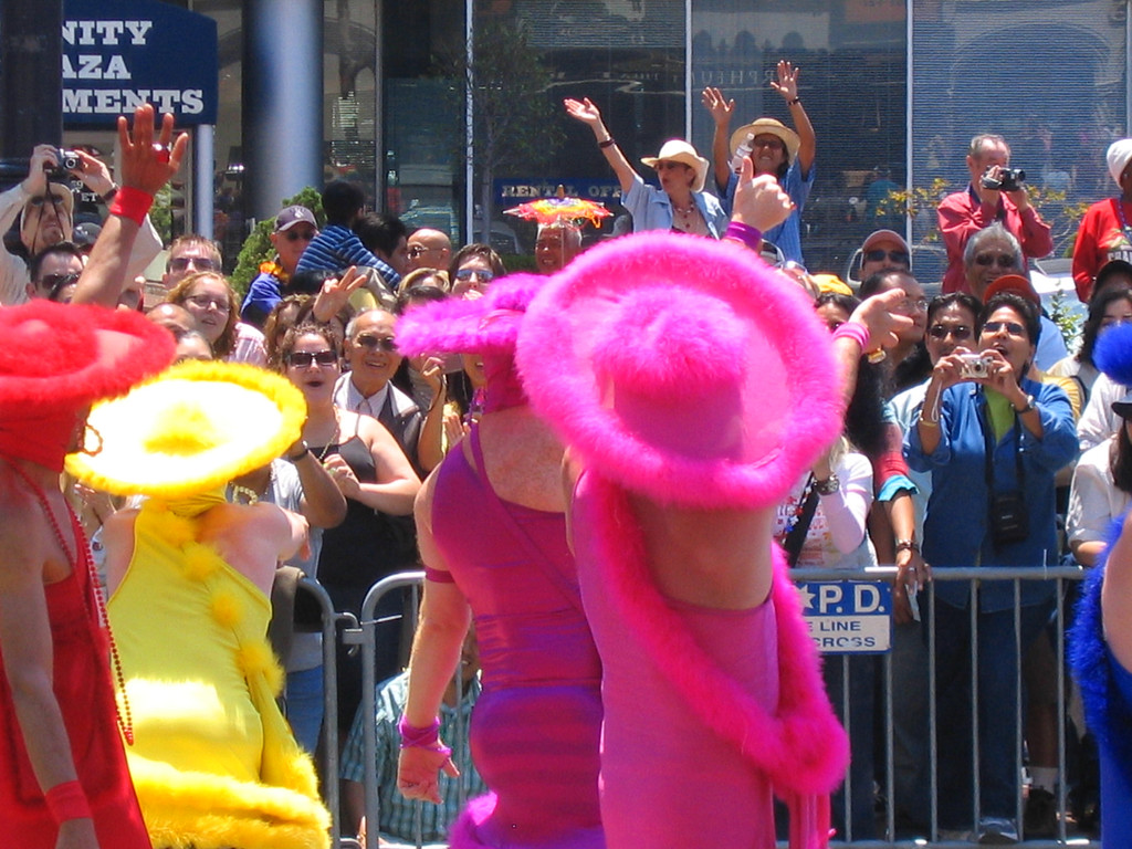 Colorful costumes at Pride Fest
