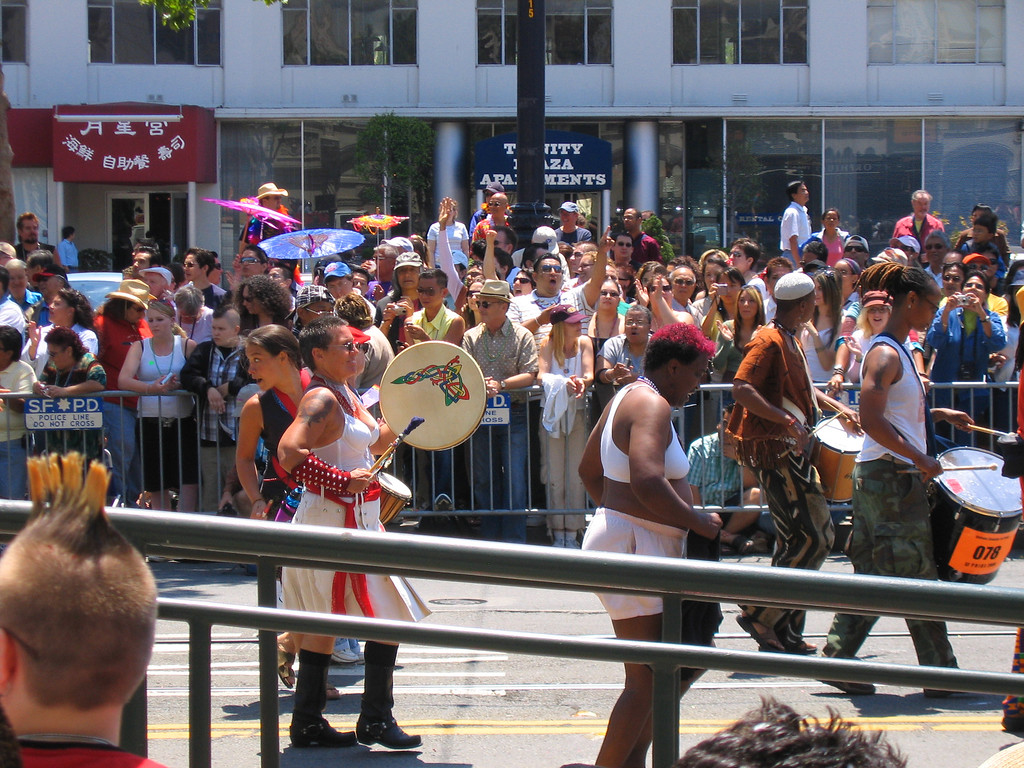 Afro drummers at Pride Fest SF