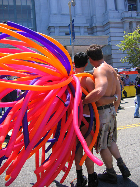 Balloon boys costumes at Pride Fest SF 2006